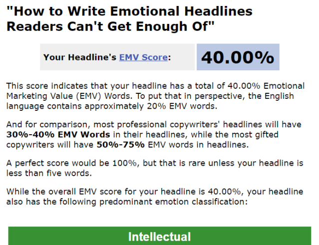 AMA emotional marketing value score how to write great headlines