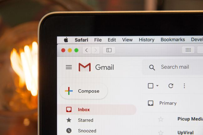 closeup of computer screen with gmail open email marketing content distribution tools