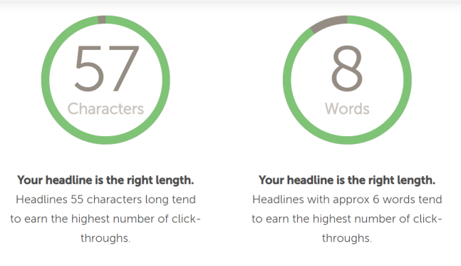 headline analyzer tool for writing great blog headlines